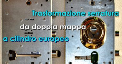 Aggiorna la serratura a profilo Europeo
