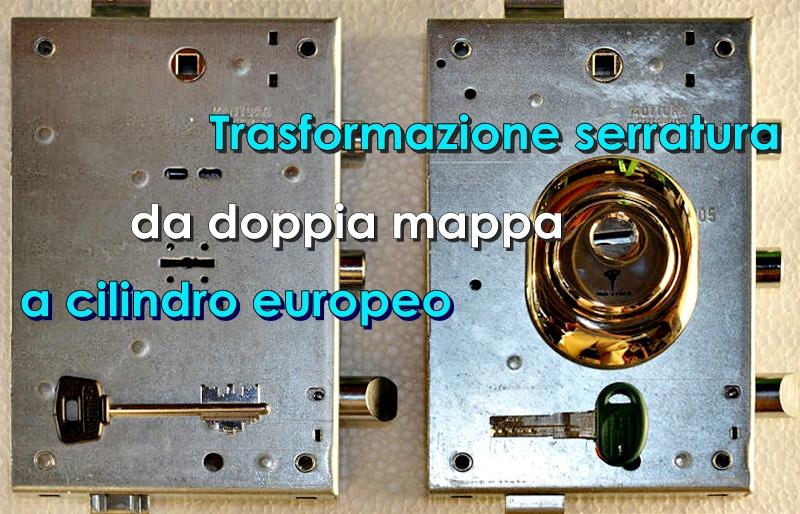 Conversione Doppia Mappa A Cilindro Europeo Csgnet Service Srls