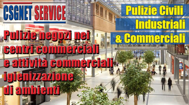Pulizie negozi e centri commerciali