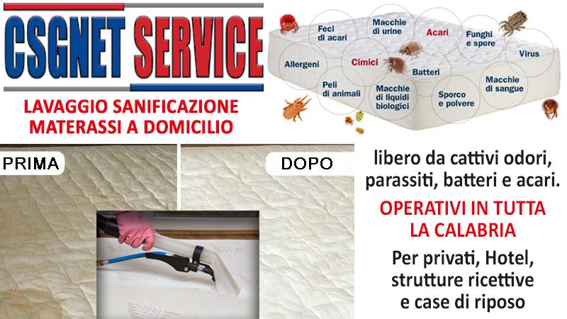 Lavaggio Materassi A Domicilio.Lavaggio E Sanificazione Materassi In Calabria Csgnet Service Srls