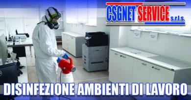 Disinfezione ambienti di lavoro
