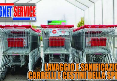 lavaggio sanificazione carrelli supermercato